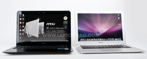 Apple MacBook Air và laptop MSI X340
